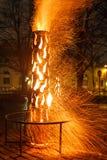 Εργασία της πυρκαγιάς Στοκ Εικόνα
