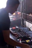 εργασία του DJ Στοκ Εικόνες