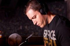 εργασία του DJ Στοκ Φωτογραφίες