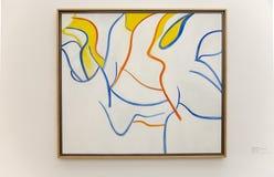 Εργασία του Willem de Kooning σε Pinakothek der Moderne στο Μόναχο Στοκ Εικόνες