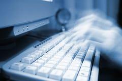 εργασία υπολογιστών στοκ φωτογραφία