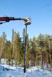 εργασία υψηλής τάσης Στοκ εικόνα με δικαίωμα ελεύθερης χρήσης