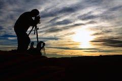 εργασία φωτογράφων Στοκ Φωτογραφία