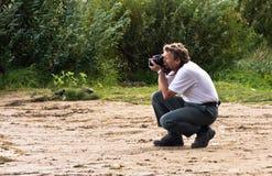 εργασία φωτογράφων Στοκ Εικόνα