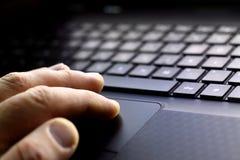 εργασία lap-top υπολογιστών Στοκ φωτογραφίες με δικαίωμα ελεύθερης χρήσης