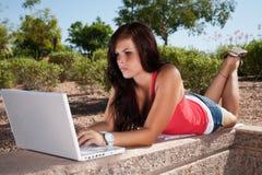 εργασία lap-top στοκ εικόνα με δικαίωμα ελεύθερης χρήσης