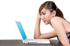 εργασία lap-top στοκ εικόνες με δικαίωμα ελεύθερης χρήσης
