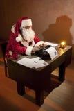 εργασία santa Claus Στοκ Εικόνα