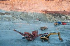Εργασίες εφαρμοσμένης μηχανικής στα λατομεία πετρών Στοκ Εικόνα