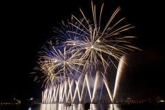 Εργασίες πυρκαγιάς πέρα από τη Βενετία Στοκ εικόνα με δικαίωμα ελεύθερης χρήσης