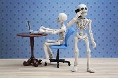 Εργασίες σκελετών Στοκ φωτογραφίες με δικαίωμα ελεύθερης χρήσης