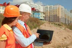 Εργασίες υπαλληλικών εργαζομένων για την περιοχή κτηρίου Στοκ Εικόνα