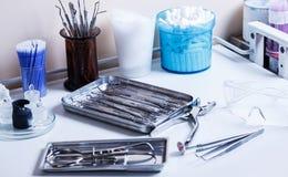Εργασιακός χώρος οδοντιάτρων Στοκ φωτογραφίες με δικαίωμα ελεύθερης χρήσης