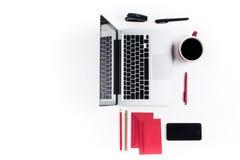 Εργασιακός χώρος στο γραφείο τεχνολογία Στοκ Εικόνες