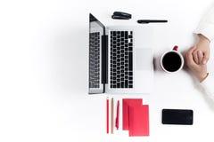 Εργασιακός χώρος στο γραφείο τεχνολογία Στοκ Εικόνα