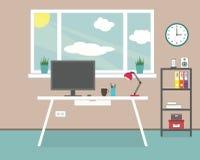 Εργασιακός χώρος στο σπίτι, γραφείο Στοκ Φωτογραφία