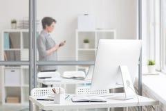 εργασιακός χώρος σχεδι&a Στοκ φωτογραφία με δικαίωμα ελεύθερης χρήσης