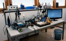 Εργαστήριο για την ανάκτηση των στοιχείων Στοκ εικόνα με δικαίωμα ελεύθερης χρήσης