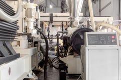 Εργαστήριο για την παραγωγή του πολυπροπυλενίου και του πολυαιθυλενίου Στοκ φωτογραφία με δικαίωμα ελεύθερης χρήσης