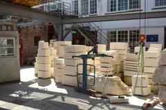 Εργαστήριο επισκευής κτιστών μοναστηριακών ναών της Υόρκης Στοκ Εικόνα