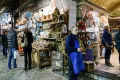 Εργαστήριο και πώληση των παχνιών στη Νάπολη Στοκ φωτογραφία με δικαίωμα ελεύθερης χρήσης