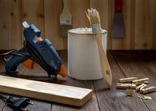 Εργαστήριο με τα εργαλεία Στοκ Φωτογραφία