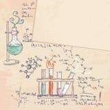 εργαστήριο χημείας ανασκόπησης παλαιό Στοκ Φωτογραφίες