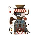 Εργαστήριο Santa ` s μηχανών απεικόνιση αποθεμάτων