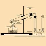 Εργαστηριακή εργασία στη χημεία Στοκ Εικόνες