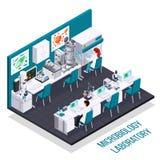 Εργαστηριακή Isometric σύνθεση μικροβιολογίας ελεύθερη απεικόνιση δικαιώματος