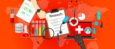 Εργαστηριακό διάνυσμα επιστήμης εικονιδίων ιατρικής έρευνας Στοκ Φωτογραφίες