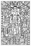 Εργαστηριακό τέρας ή Frankenstein Στοκ Εικόνες