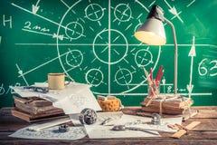 Εργαστηριακό τεχνικό σχέδιο στο σχολείο Στοκ Εικόνες