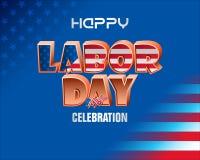 Εργατική Ημέρα εορτασμού στην Αμερική Στοκ Φωτογραφίες