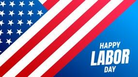 Εργατική Ημέρα ΗΠΑ Υπόβαθρο ΑΜΕΡΙΚΑΝΙΚΗΣ Εργατικής Ημέρας Έμβλημα με την ΑΜΕΡΙΚΑΝΙΚΕΣ σημαία και την τυπογραφία 4ος ΗΠΑ των διακο Στοκ Εικόνα
