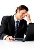 εργατικός πονοκέφαλος επιχειρηματιών στοκ εικόνα με δικαίωμα ελεύθερης χρήσης