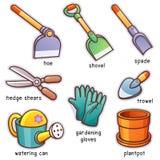 εργαλεία άνοιξης κηπουρικής κήπων διανυσματική απεικόνιση