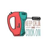 Εργαλεία αναμικτών ή κουζινών, ουσία για τη διακόσμηση επιλογών έμβλημα λογότυπων ψησίματος ή ετικέτα, χαραγμένο χέρι που σύρεται Στοκ φωτογραφία με δικαίωμα ελεύθερης χρήσης