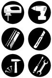 Εργαλεία για την εγχώρια εργασία Στοκ εικόνα με δικαίωμα ελεύθερης χρήσης
