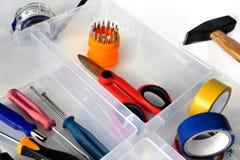 Εργαλεία για τις δευτερεύουσες επισκευές και εργασία για το σπίτι στοκ εικόνες με δικαίωμα ελεύθερης χρήσης