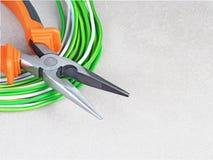 Εργαλεία για τον ηλεκτρολόγο Στοκ εικόνα με δικαίωμα ελεύθερης χρήσης