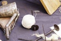 Εργαλεία για το μαλλί Στοκ εικόνες με δικαίωμα ελεύθερης χρήσης