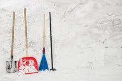 Εργαλεία για το χιόνι Στοκ εικόνα με δικαίωμα ελεύθερης χρήσης