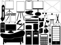 Εργαλεία γραφείων που απομονώνονται στο λευκό Στοκ Εικόνες