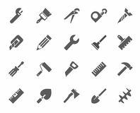 Εργαλεία, εικονίδια, μονοχρωματικά Στοκ Εικόνες