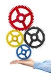 Εργαλεία εκμετάλλευσης χεριών επιχειρηματιών Στοκ φωτογραφία με δικαίωμα ελεύθερης χρήσης