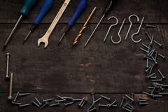 Εργαλεία επισκευής στον πίνακα Στοκ Φωτογραφίες