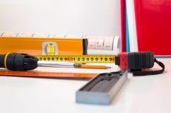 Εργαλεία εργατών οικοδομών Στοκ Εικόνες