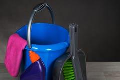 Εργαλεία καθαρίζοντας προϊόντων Στοκ Φωτογραφίες