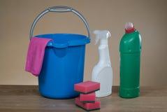 Εργαλεία καθαρίζοντας προϊόντων Στοκ φωτογραφίες με δικαίωμα ελεύθερης χρήσης